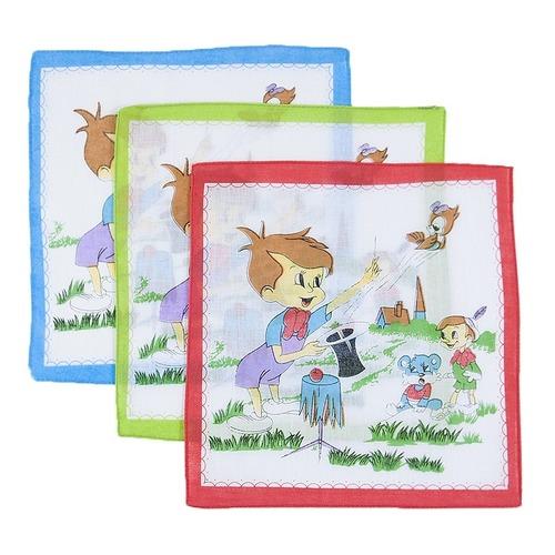 Платки носовые детские 24х24 Фокусник (10 шт) фото 1
