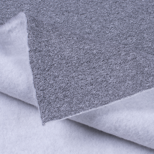 Маломеры футер 3-х нитка компакт пенье меланж цвет серый 0,9 м фото 2