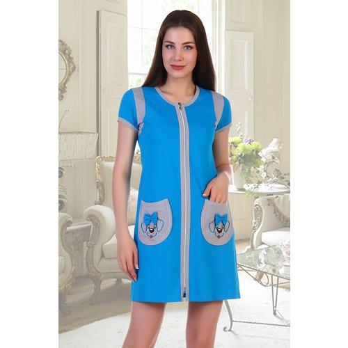 Халат Ингрид 5389 цвет голубой р 46 фото 1