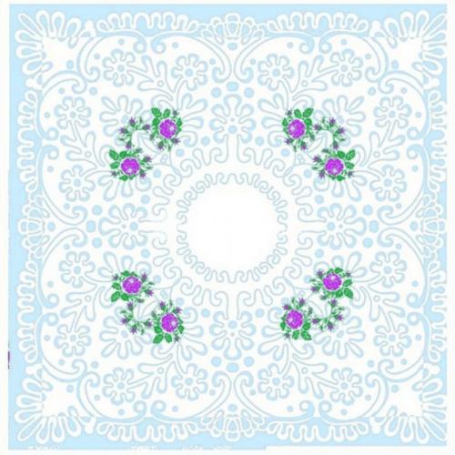 Платок носовой женский ситец Шуя 76391 10 шт фото 1