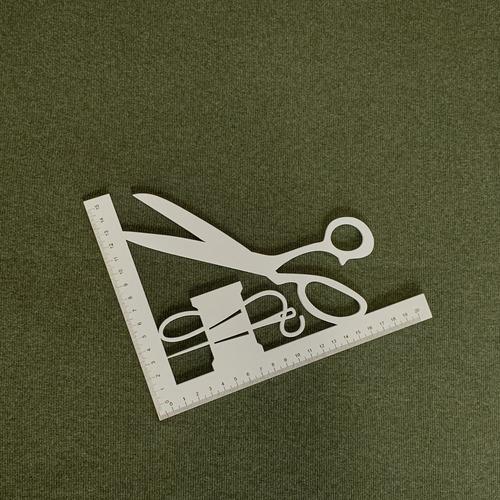 Ткань на отрез кашкорсе с лайкрой Melange 2307-1 цвет хаки фото 2