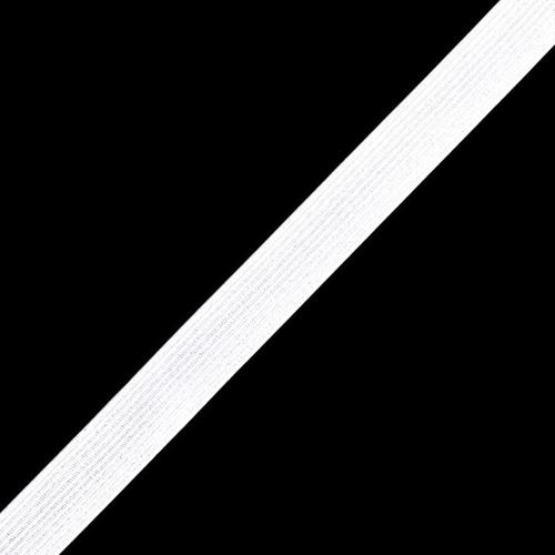 Резинка 10 мм 100 м цвет белый фото 1