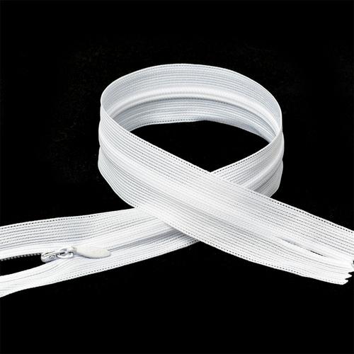 Молния пласт потайная №3 60 см цвет F101 белый фото 2