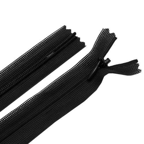Молния пласт потайная №3 60 см цвет F322 (310) черный фото 1
