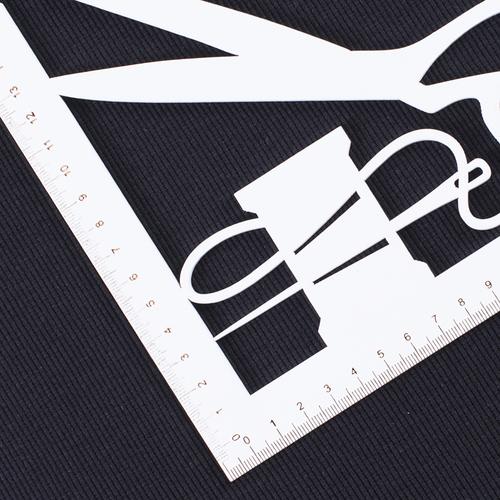 Ткань на отрез кашкорсе с лайкрой цвет Черный фото 3