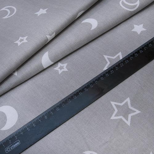 Мерный лоскут поплин 150 см 394/17 цвет серый фото 2