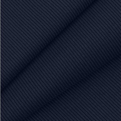 Ткань на отрез кашкорсе с лайкрой 2408-1 цвет темно-синий фото 1