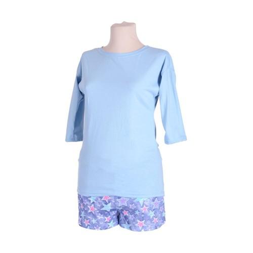Женская пижама ЖП 001/2 звезды на джинсе+голубой р 50 фото 1