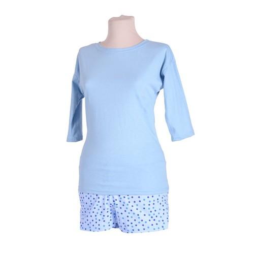 Женская пижама ЖП 001/2 голубой+горошек р 44 фото 1
