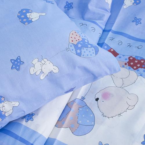 Детское постельное белье из поплина 1.5 сп 1636/2 Мой ангелочек голубой фото 2