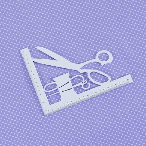 Ткань на отрез бязь плательная 150 см 1590/27 цвет сирень фото 2