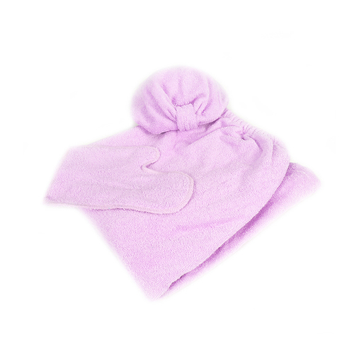 Набор для сауны женский цвет розовый фото 2