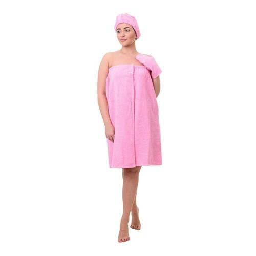Набор для сауны женский цвет розовый фото 1