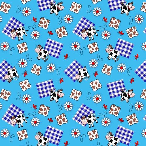 Ткань на отрез вафельное полотно 45 см 144 гр/м2 0698/3 цвет голубой фото 1