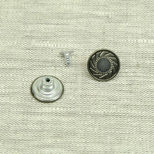Пуговица джинс ПД092 темное серебро 17мм уп 50 шт фото 1