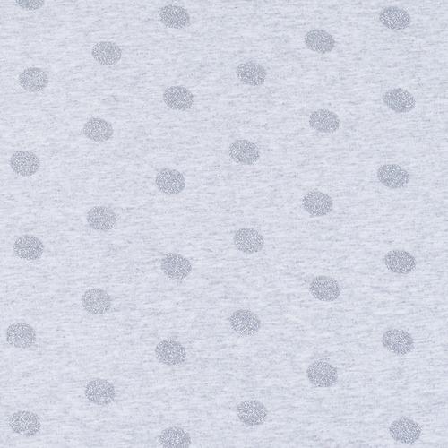 Ткань на отрез кулирка лайкра с глиттером Горох R193 фото 1