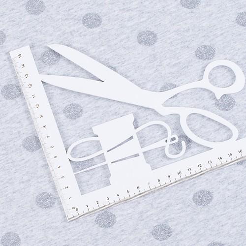 Ткань на отрез кулирка лайкра с глиттером Горох R193 фото 2