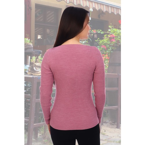 Джемпер 6503 цвет розовый р 42-44 фото 2