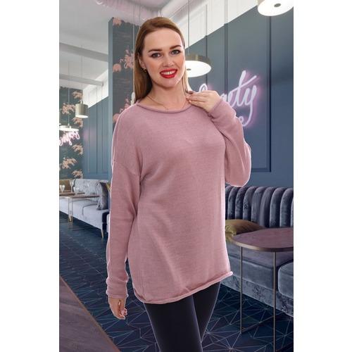 Джемпер 6524 цвет темно-розовый р 48-54 фото 1