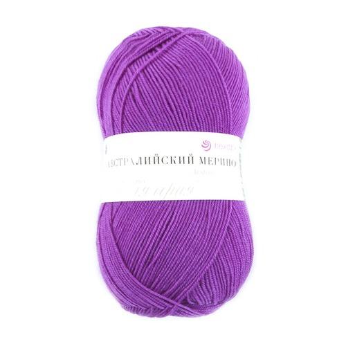 Пряжа для вязания ПЕХ Австралийский меринос 100гр/400м цвет 179 фиалка фото 1