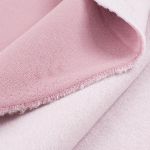 Маломеры футер 3-х нитка компакт пенье начес цвет светло-розовый 0.6 м фото 2