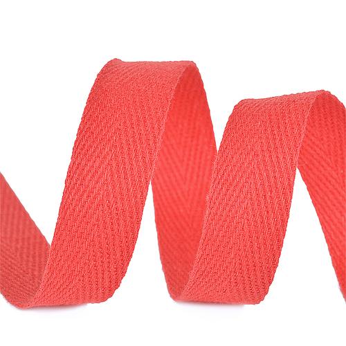 Лента киперная 10 мм хлопок 2.5 гр/см цвет F162 красный фото 1