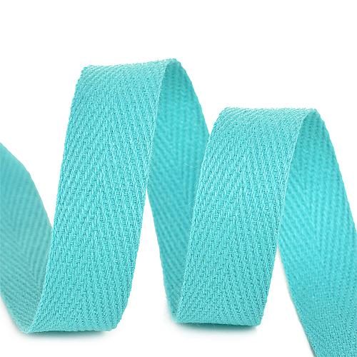 Лента киперная 10 мм хлопок 2.5 гр/см цвет F204 мятный фото 1
