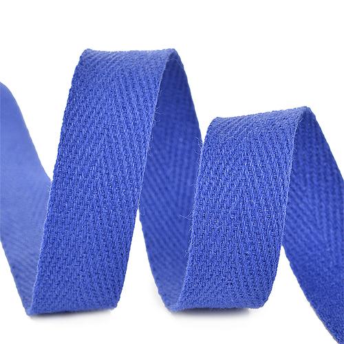 Лента киперная 10 мм хлопок 2.5 гр/см цвет F223 синий василек фото 1