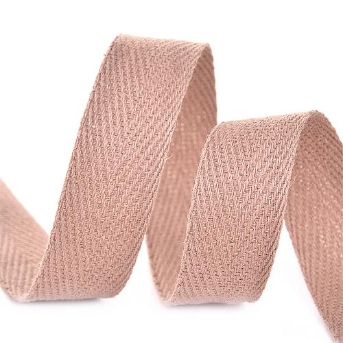 Лента киперная 10 мм хлопок 2.5 гр/см цвет F293 бежевый фото 1
