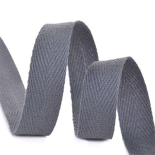 Лента киперная 10 мм хлопок 2.5 гр/см цвет F311 темно-серый фото 1