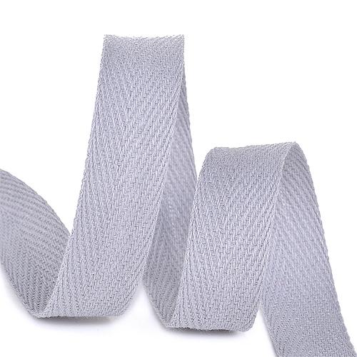 Лента киперная 10 мм хлопок 2.5 гр/см цвет S361 серый фото 1