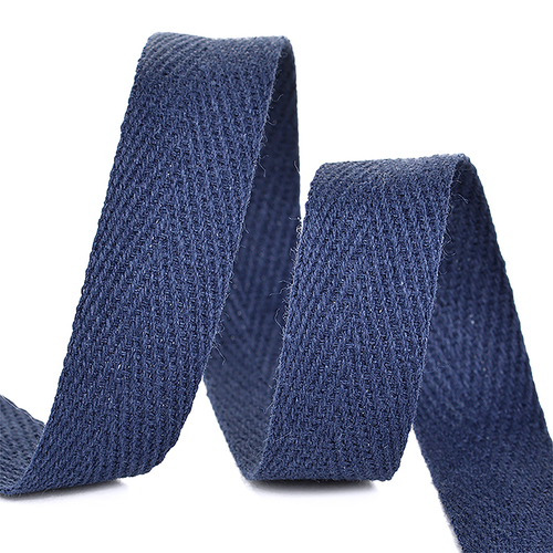 Лента киперная 15 мм хлопок 2.5 гр/см цвет S058 темно-синий фото 1