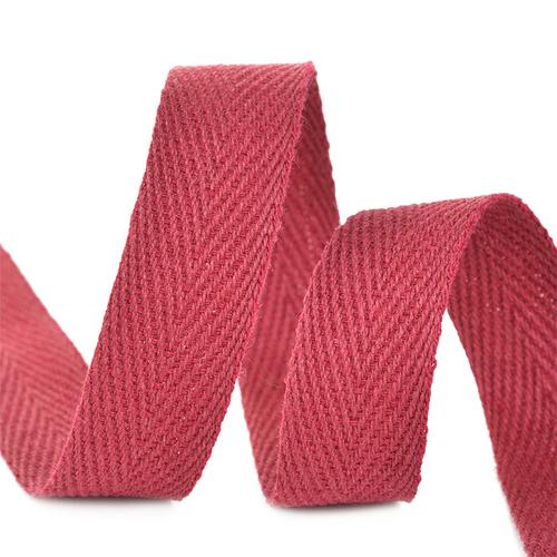Лента киперная 15 мм хлопок 2.5 гр/см цвет F178 бордовый фото 1