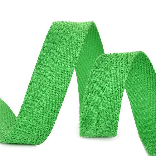Лента киперная 15 мм хлопок 2.5 гр/см цвет F239 зеленый фото 1