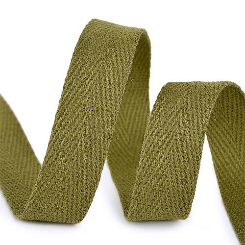 Лента киперная 15 мм хлопок 2.5 гр/см цвет F264 зеленый фото 1