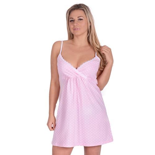 Сорочка Д 67 горох на розовом р 54 фото 1