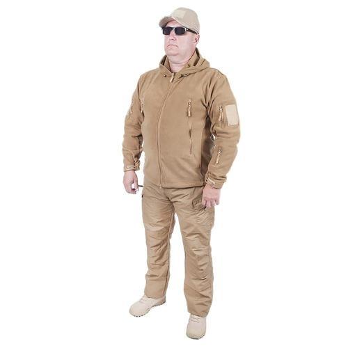 Куртка Флис с капюшоном цвет койот размер XXL фото 1