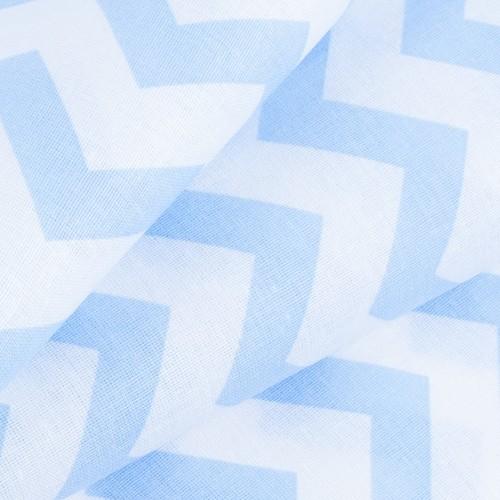 Ткань на отрез бязь плательная 150 см 1692 цвет голубой фото 4