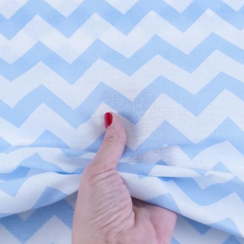 Ткань на отрез бязь плательная 150 см 1692 цвет голубой фото 3