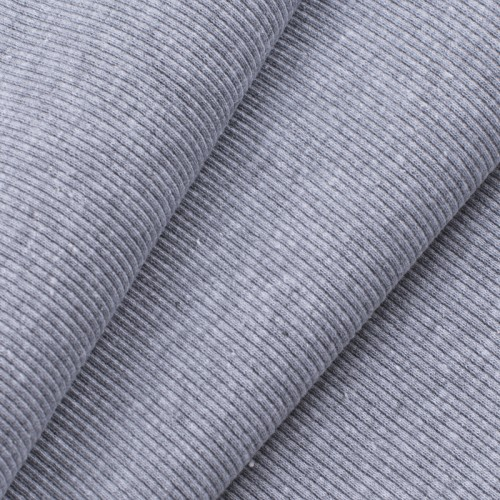 Ткань на отрез кашкорсе с лайкрой цвет серый меланж фото 1