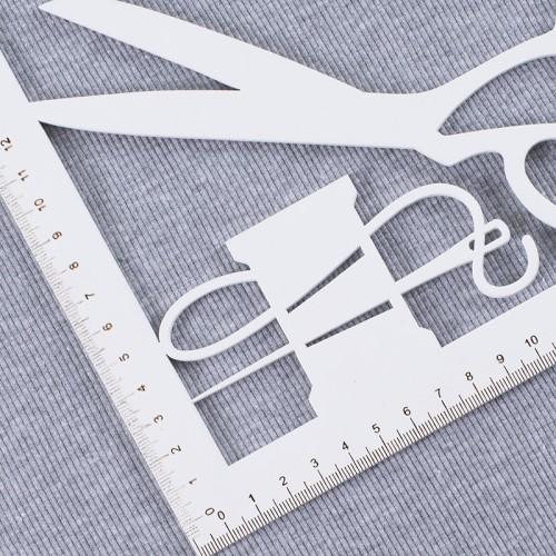 Ткань на отрез кашкорсе с лайкрой цвет серый меланж фото 4