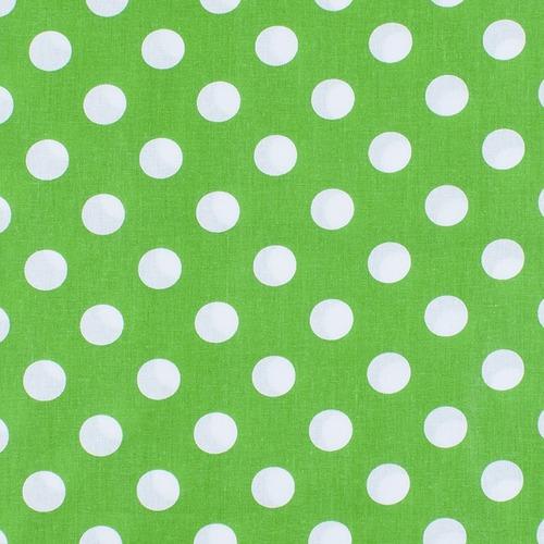 Ткань на отрез бязь плательная 150 см 1422/7 зеленый фон белый горох фото 1