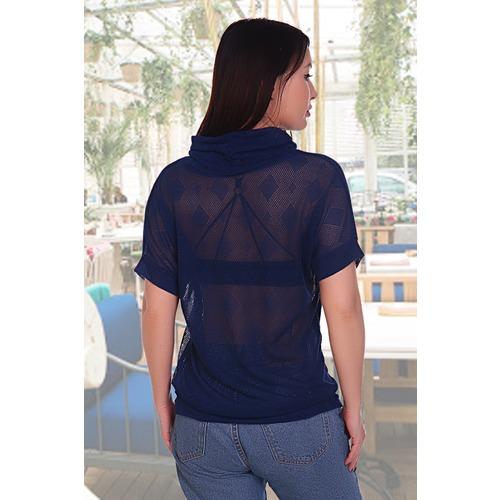 Блузка Бригантина 11209 синяя р 52 фото 2