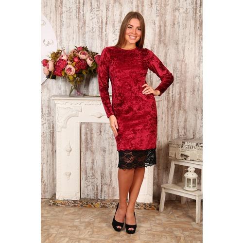 Платье Каролина бордо Д476 р 44 фото 1