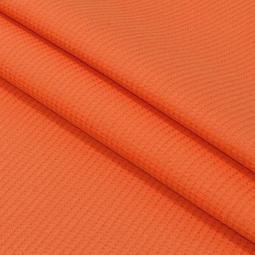 Ткань на отрез вафельное полотно гладкокрашенное 150 см 165 гр/м2 цвет коралл фото 1