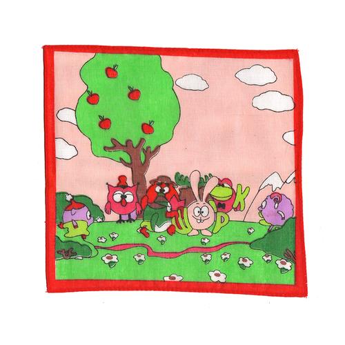 Платки носовые детские 20х20 Смешарики (12 шт) фото 1