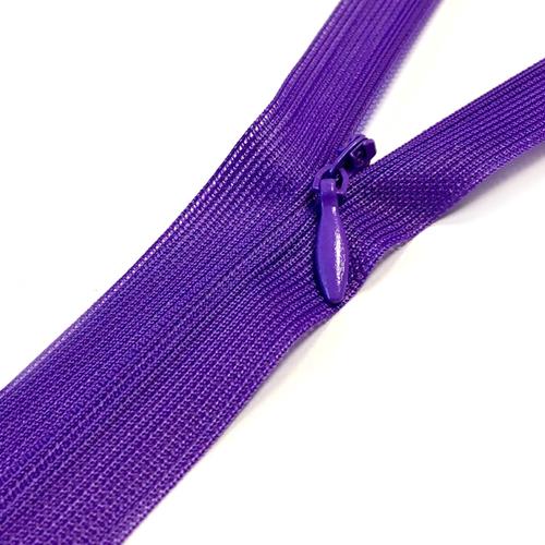 Молния потайная н/р 60см D218 нейлон фиолет фото 1