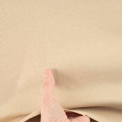 Ткань на отрез кашкорсе 3-х нитка с лайкрой цвет светлый кемел фото 2