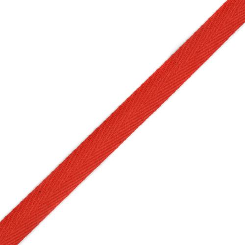 Лента киперная 10 мм хлопок 1.8 гр/см цвет 010 красный фото 1