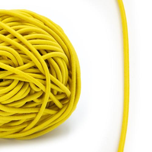 Резинка шляпная 0,25см желтая 1 метр фото 1